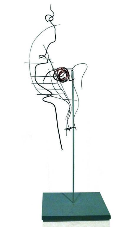 ohne Titel I 1999 I Höhe 75 cm I Kupferdraht weich gelötet