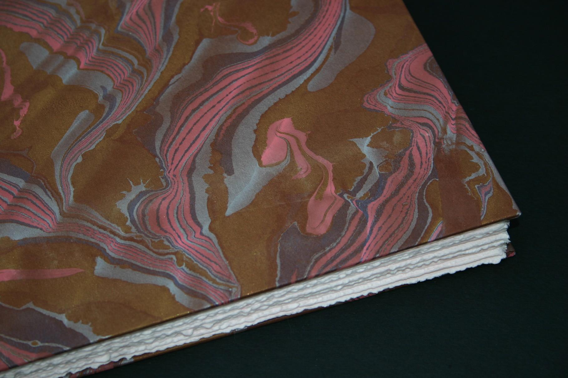 Gästebuch in Venezianischem Handmade Paper