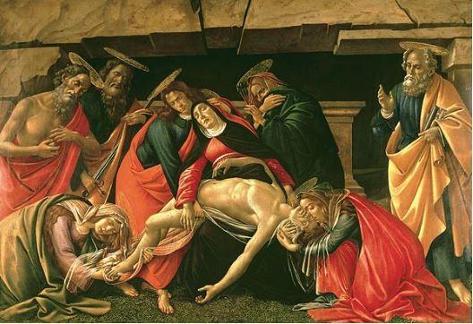 lamentation sur le Christ mort de Boticelli