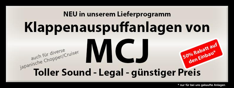 Klappenauspuff MCJ 50% Rabatt auf den Einbau (nur für bei uns gekaufte Anlagen)