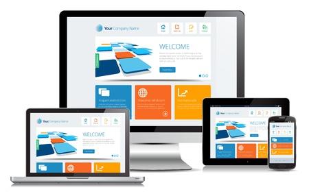 スマホ対応レスポンシブデザインのホームページWebサイト
