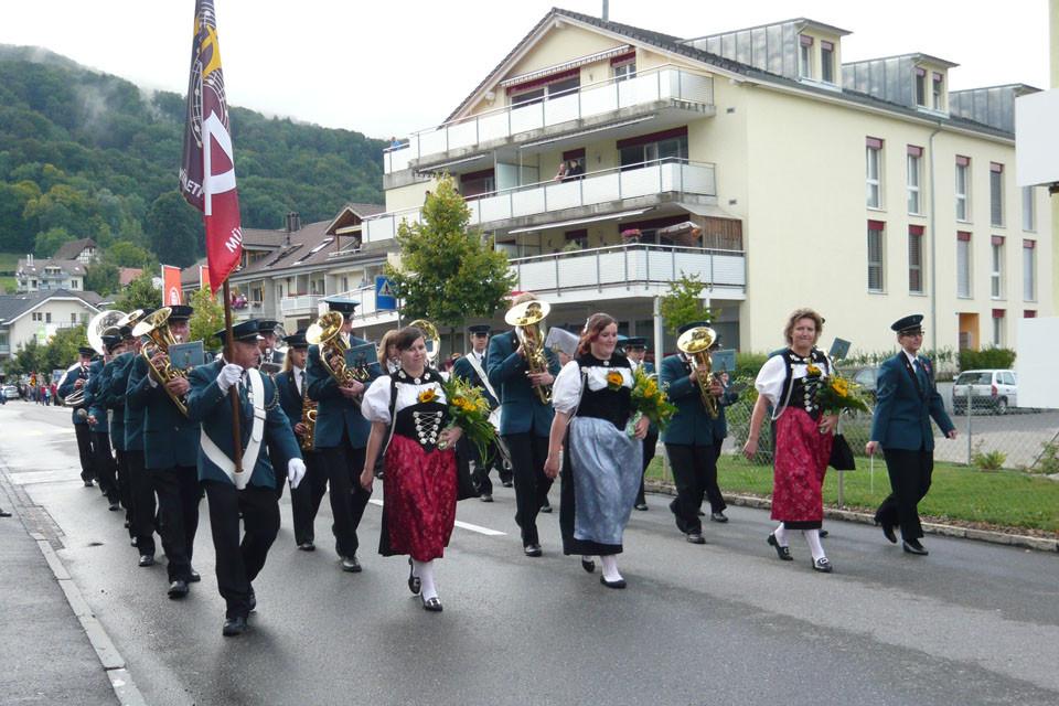 Marschmusikparade am Samstag