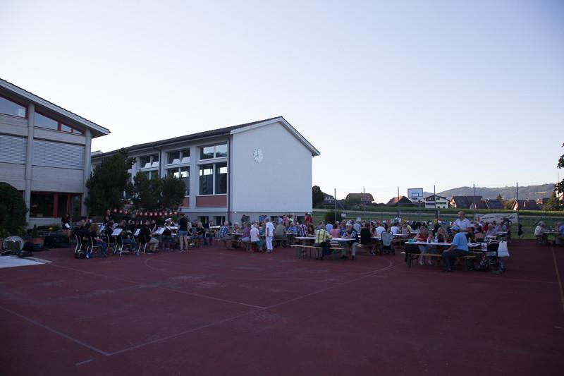 1. Augustfeier auf dem Sportplatz