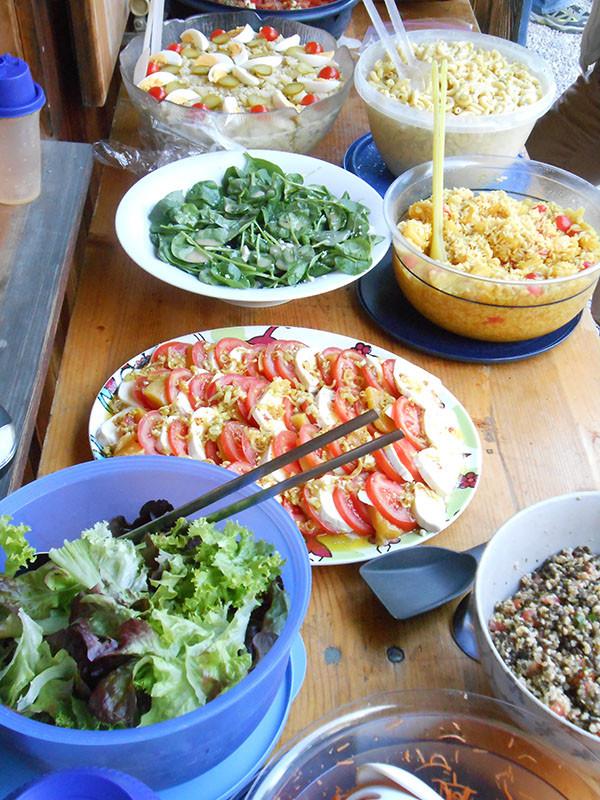 Feines Salatbuffet