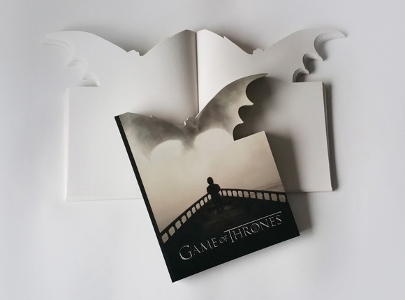 Game of thrones - Konturgestanztes Notizbuch