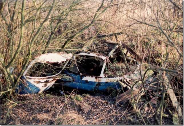 Bis in die 1980er Jahre diente das Dosenmoor als Schrottplatz zur illegalen Entsorgung alter Autos. Foto: UNB Neumünster