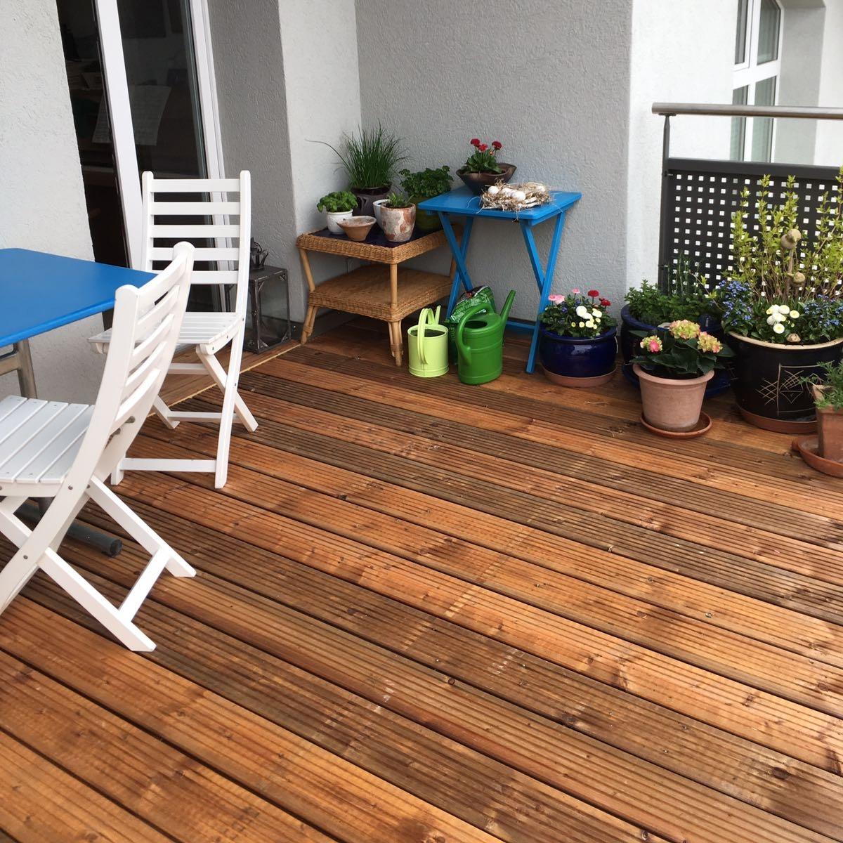 Balkonboden in Föhre druckimprägniert