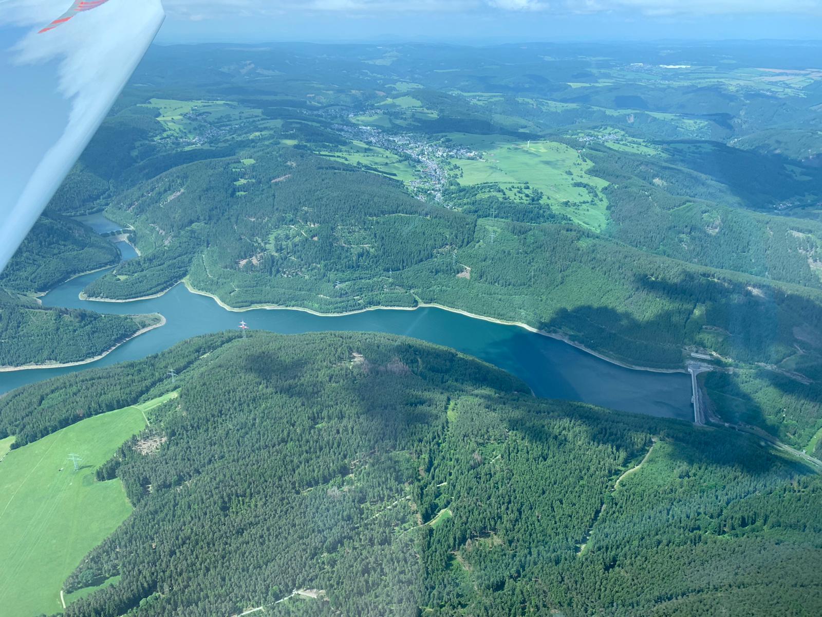 Im Thüringer Wald: Trinkwassertalsperre Leibis/Lichte