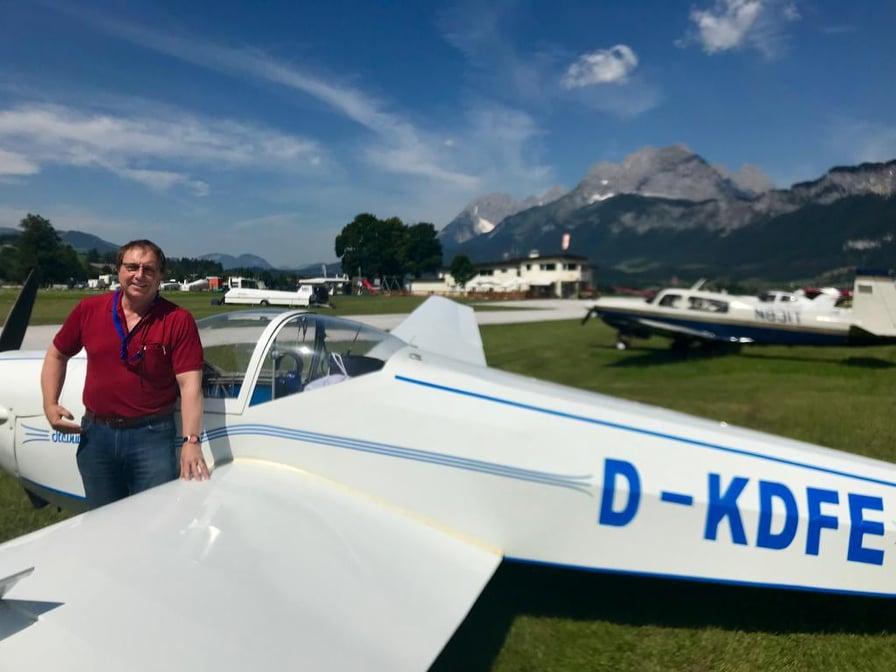 Ausflug von Fluglehrer/Ausbildungsleiter Markus Klemm mit Gerhard Wolfrum nach St. Johann in Tirol