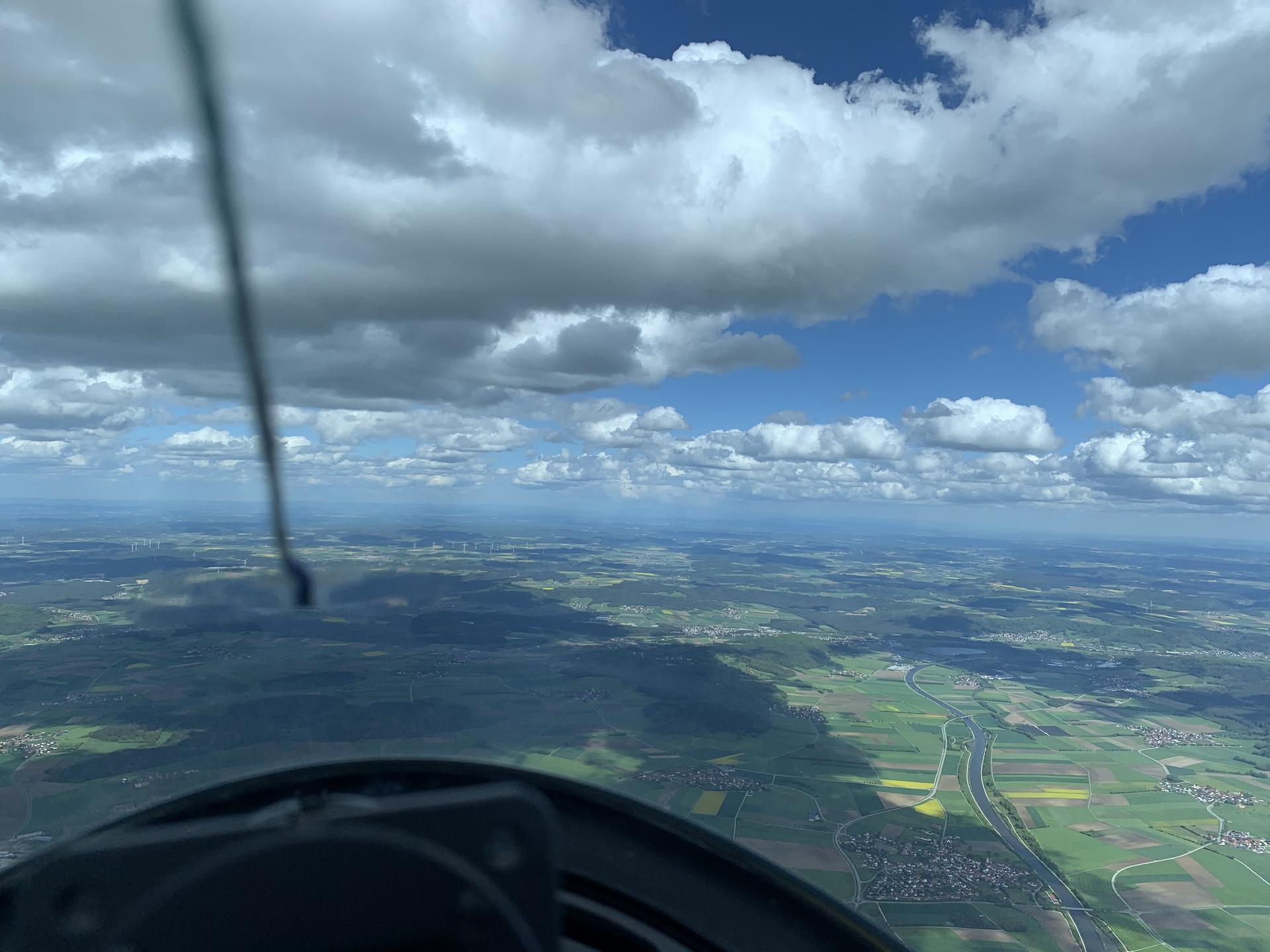 Rückweg mit über 40 km/h Rückenwind, das könnte öfter sein