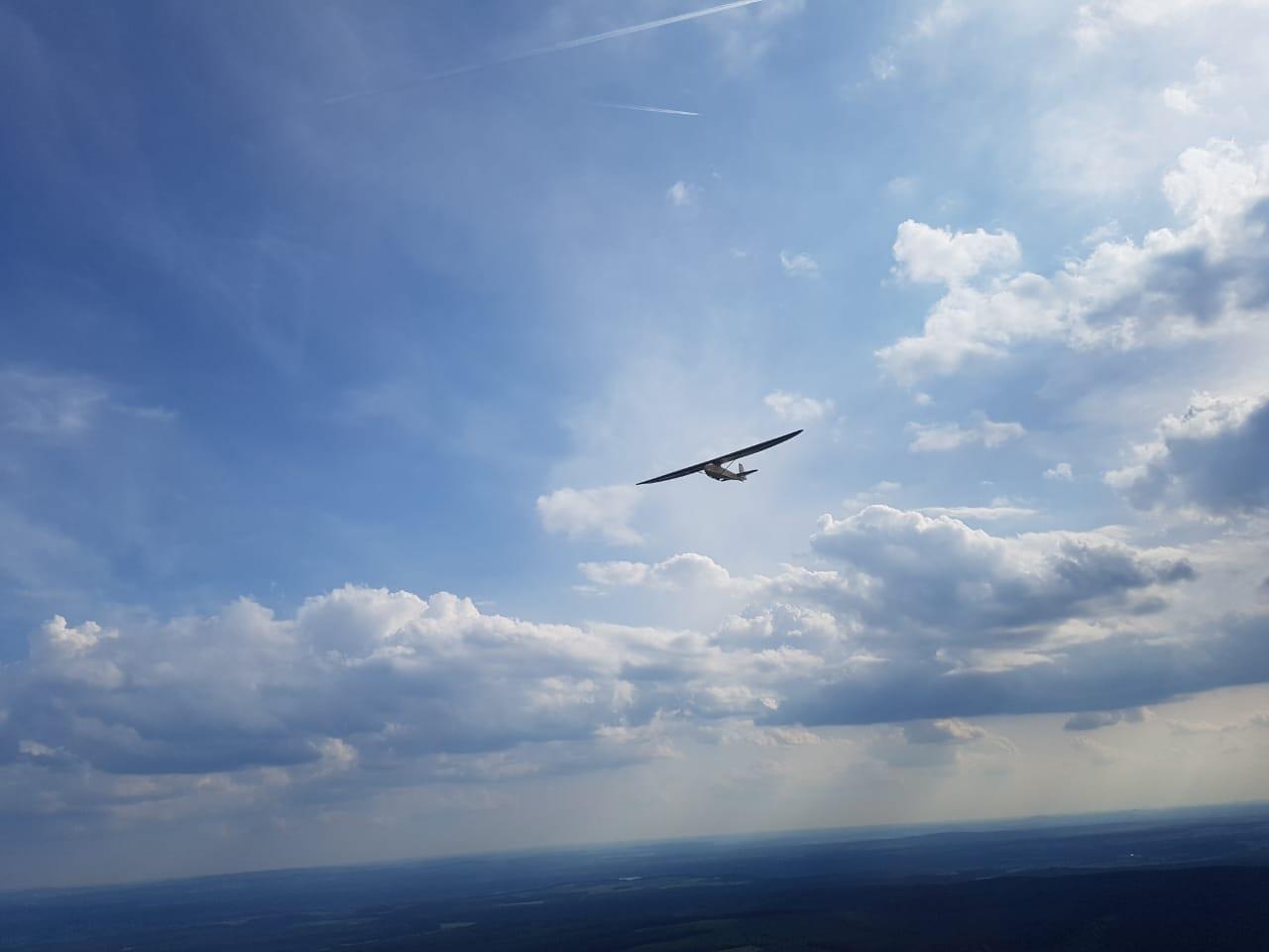 D-1459 im Flug