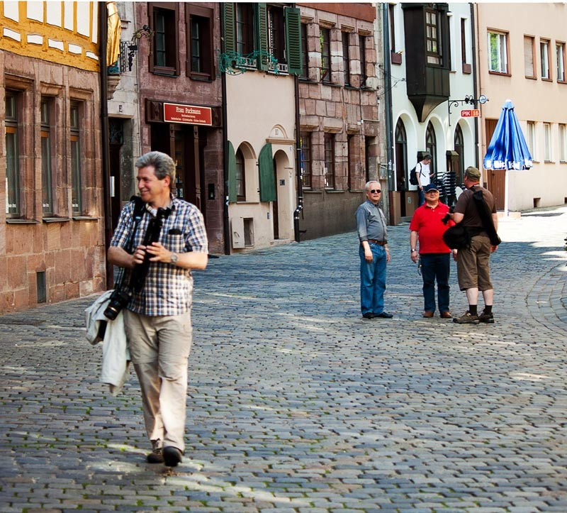 Altstadtfassaden in der Weißgerbergasse
