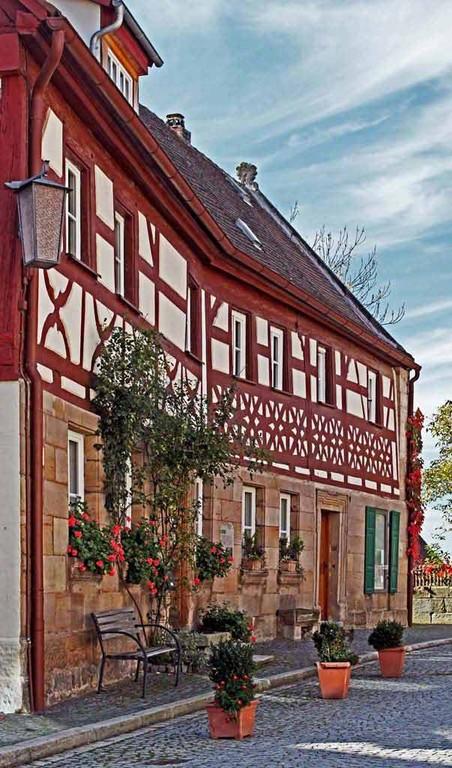 Fachwerkhaus in der Marktstaße nähe Hohenzollernburg