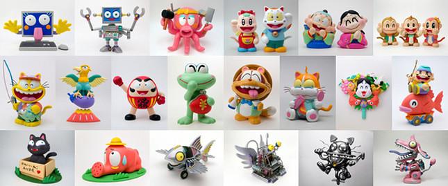 立体イラスト 人形 粘土 ストックフォト 写真素材 人物 ロボット 動物 縁起物 まねき猫 夫婦 イラスト イラスト写真素材