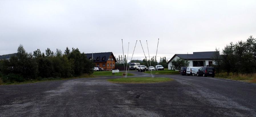 Camping / hôtel de Leirubakki. Le point accessible le plus proche de Landmannalaugar pour prendre le bus.
