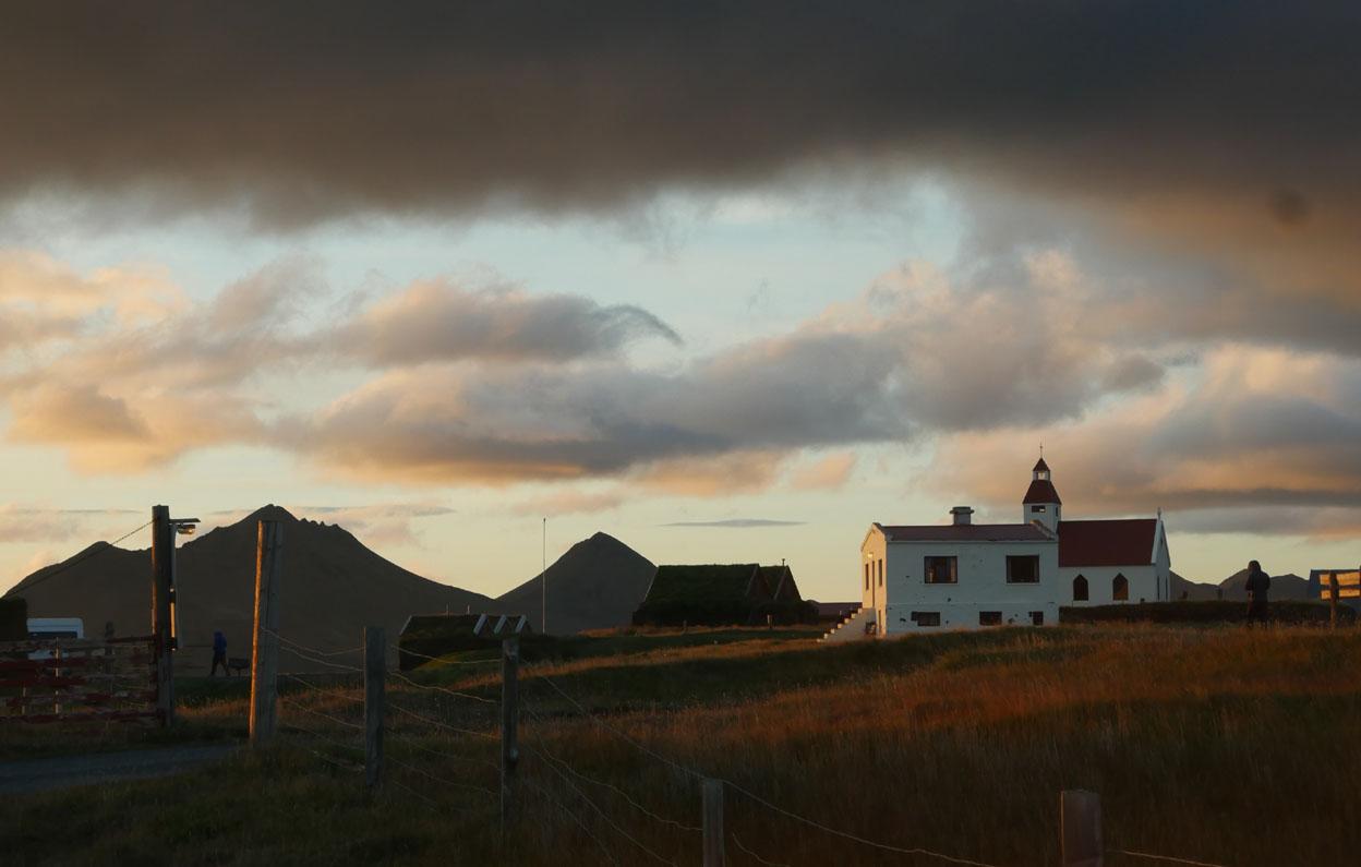 Möðrudalur à l'aube de la nuit