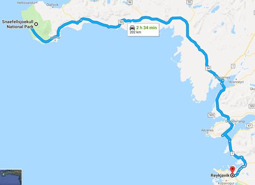 De Snaefellsnes à Reykjavik