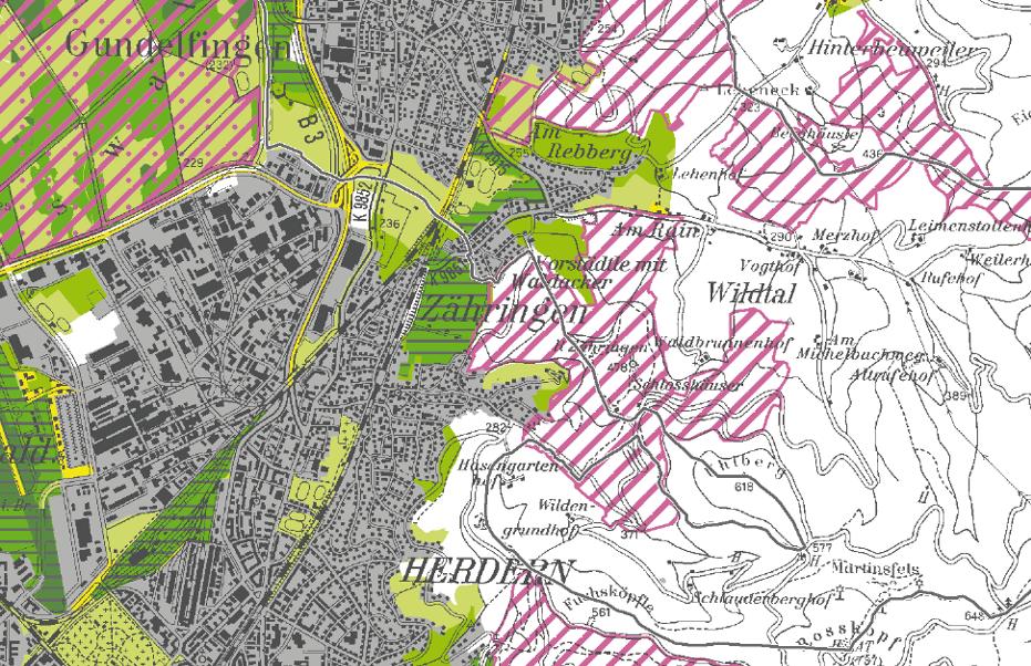 Vernetzung Biotopverbund FFh Mooswald und FFH Gebiet Roßkopf / Gundelfingen-Zähringer Höhe