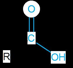 Carboxygruppe einer Carbonsäure in Strukturschreibweise.