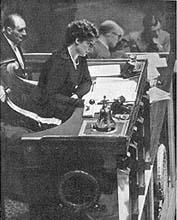 Madeleine Braun à l'Assemblée Nationale