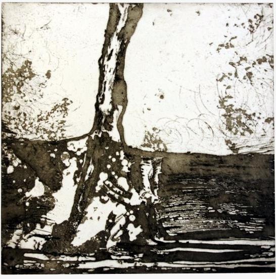 P, eau-forte, 2008, 25x25