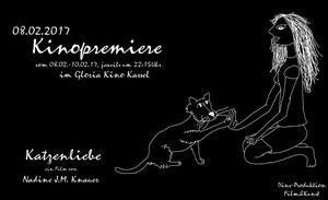 """Kinopremiere von """"Katzenliebe"""" von Nadine J. M. Knauer 2017"""