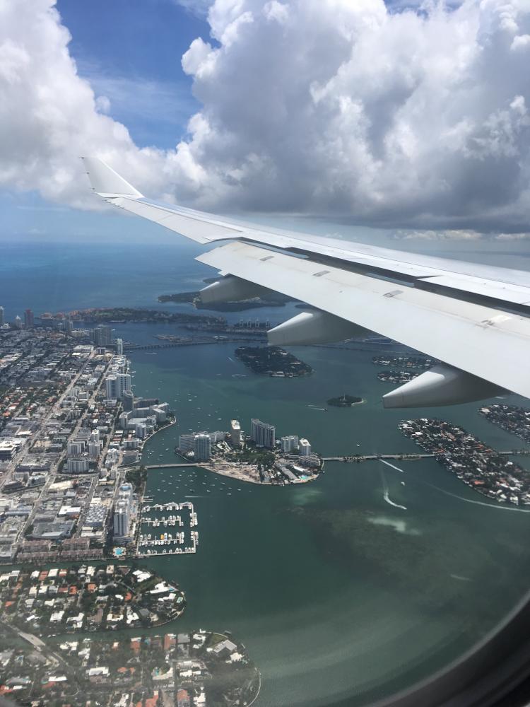 Blick aus dem Fenster über Miami