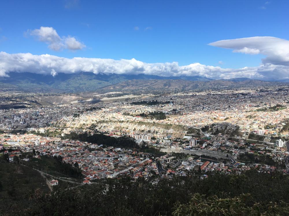 Blick über Ambato