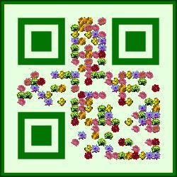 Design-Beispiel »Blumen« QR-Code