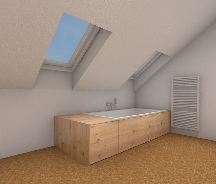 Fotorealistische Ansicht Badewannenverkleidung