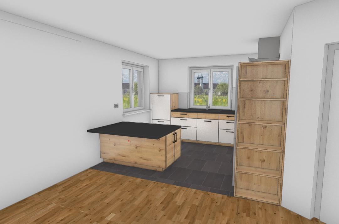 Fotorealistische Ansicht Küche