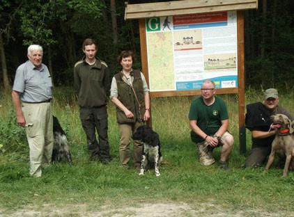 von links nach rechts: Karl Wichmann, Dennis und Pia Schaak, Pietro Brede und Markus Mendel.
