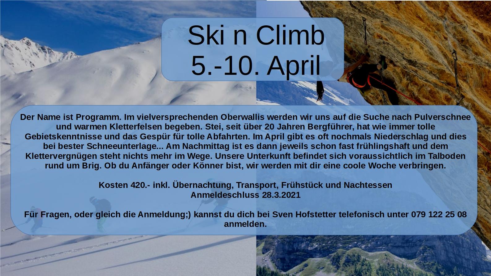 JO ski'n'climb 2021