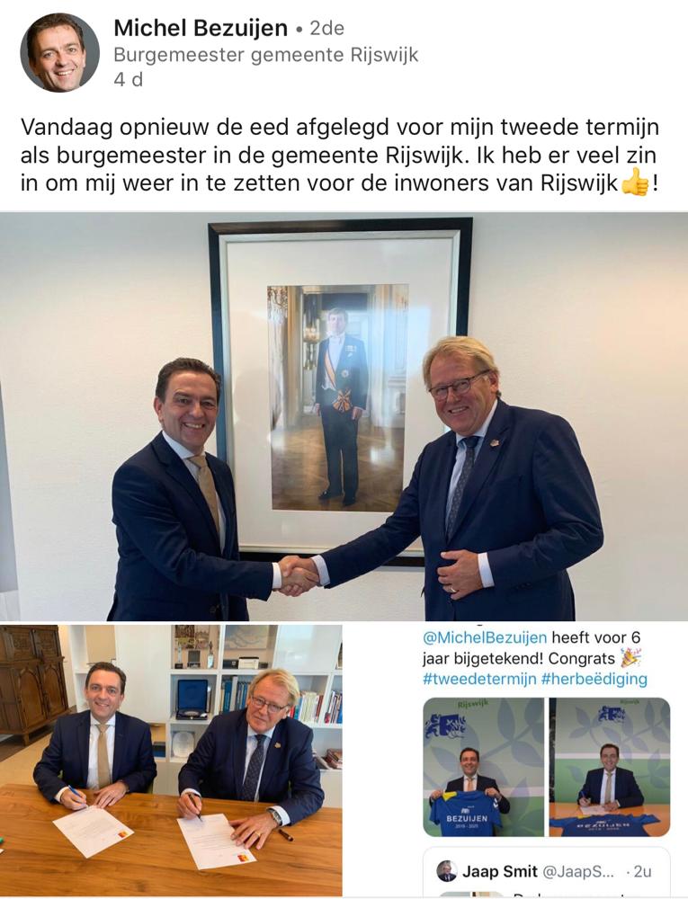 PSCC feliciteert de Burgemeester van Rijswijk en wenst hem veel wijsheid en succes toe.