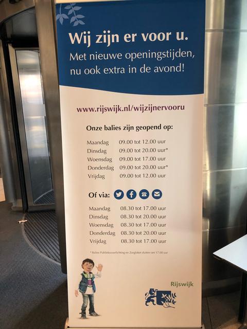 Openingstijden gemeentehuis Rijswijk in Bogaard