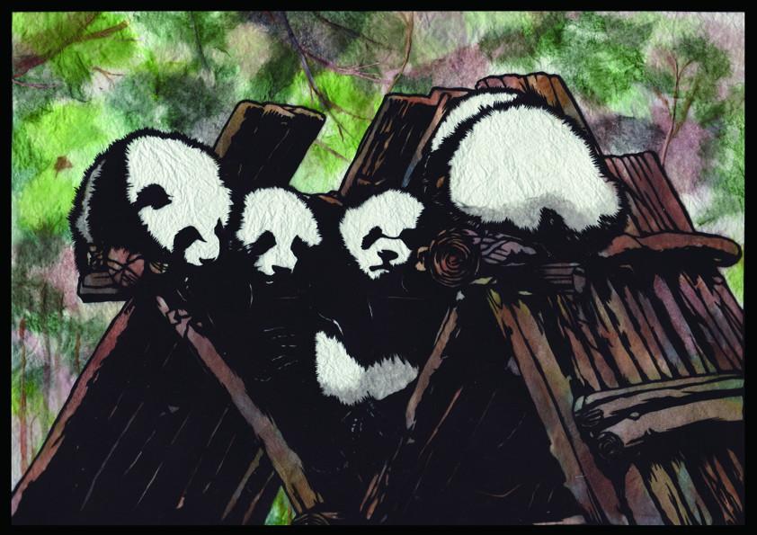 臥龍的大熊猫