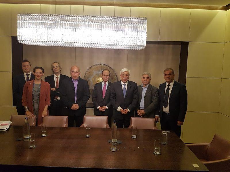 Με τον πρόεδρο της Ελλάδας κο. Παυλόπουλο
