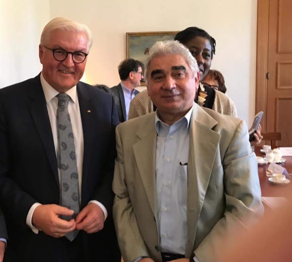 Με τον πρόεδρο της Γερμανίας κο. Steinmayer