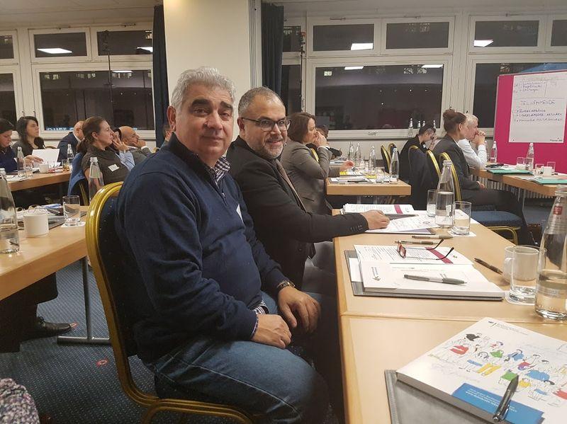 Στην Bundeskonferenz d. Emigranten Organisationen (BKMO) mit Ali Toprak Präsident der BAGIV