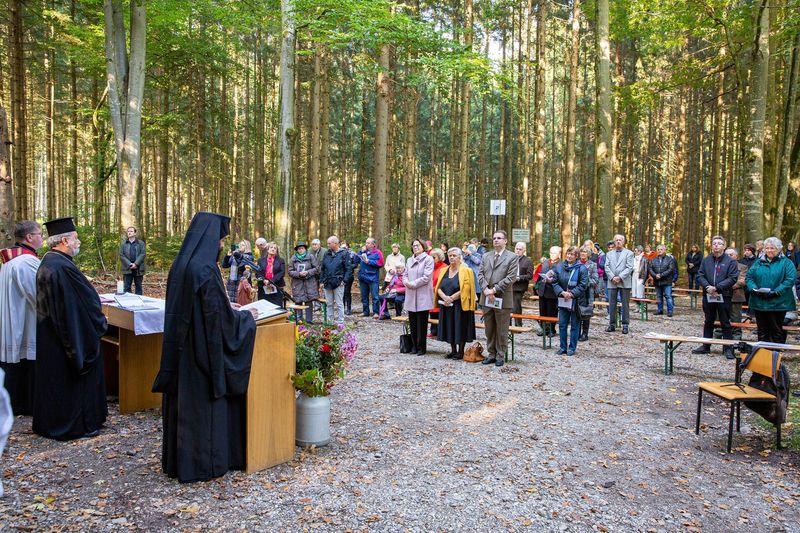 Παράδοση της ορθόδοξης εικόνας της Αγίας Κορώνας/Στεφανίδας στο παρεκκλήσι της, στην κωμόπολη Arget της Βαυαρίας