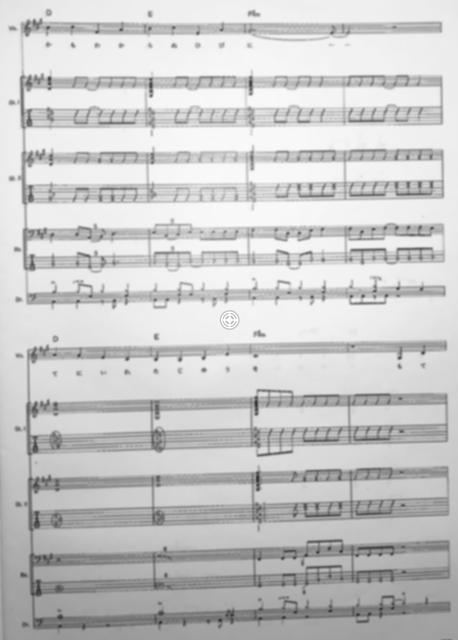 バンド譜の例(モザイク加工あり)