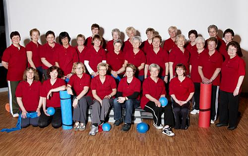 Die Gymnastikgruppe im Jahr 2010