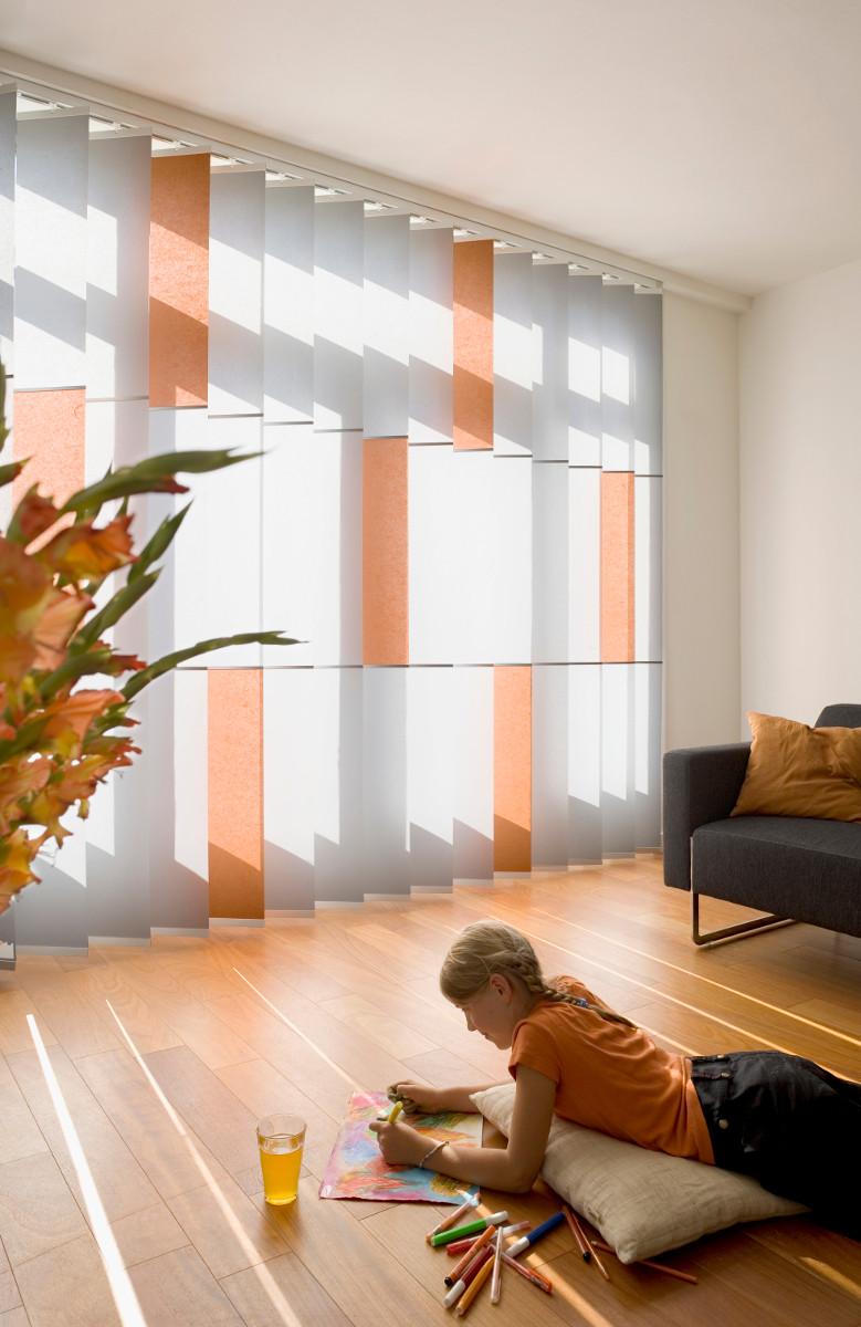Wood & Washi Banner Shades im Wohnbereich