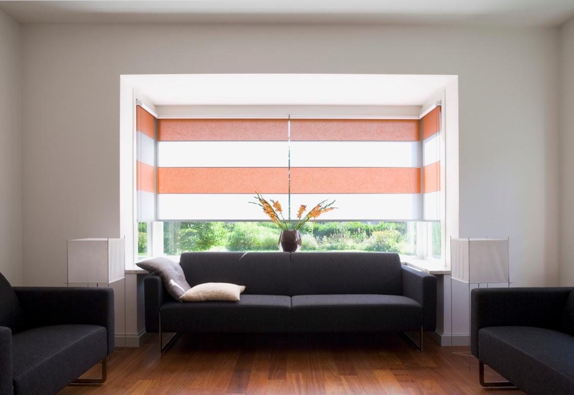 Wood & Washi Rollo Shades im Wohnbereich