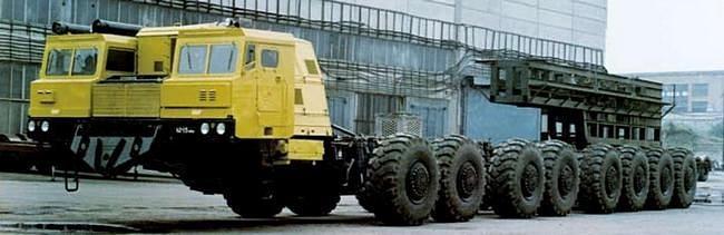 МАЗ-7906 для комплекса «Целина-2». 1984