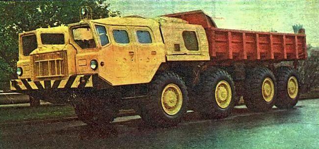 """Самосвал МАЗ-7510. Фото из журнала """"За рулем"""", май 1975 г."""