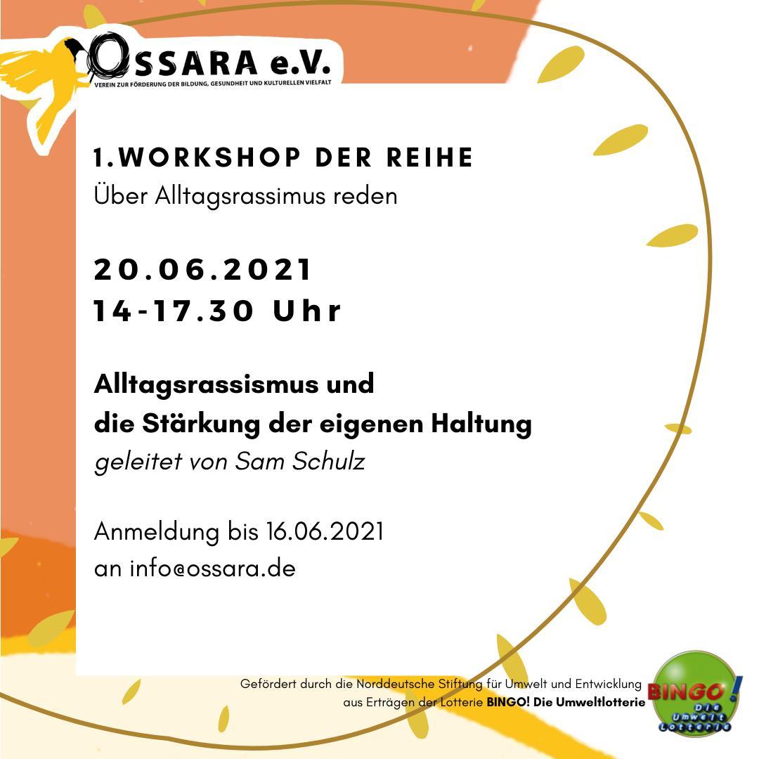 """1. Workshop der Reihe """"Über Alltagsrassismus reden"""""""