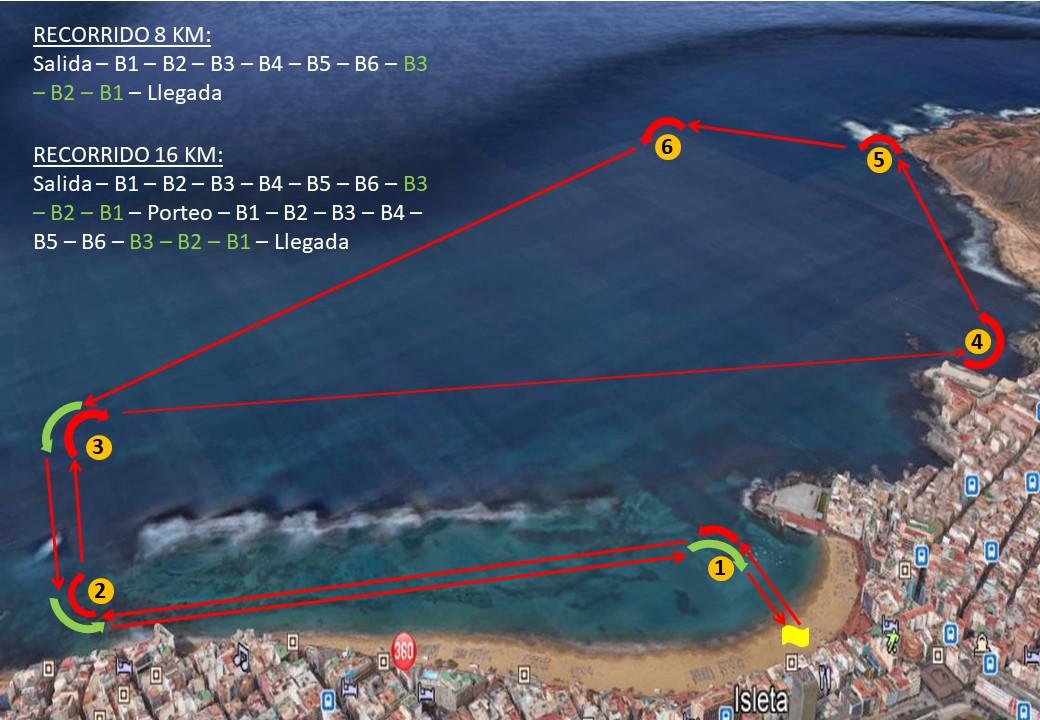 Recorrido 16 y 8 km -  Opción 1