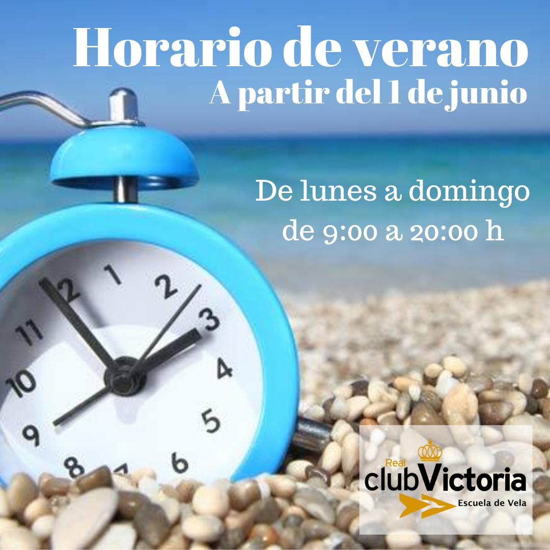 A partir del martes 1 de junio, la Escuela comienza con el horario de verano por lo que el horario de apertura será de LUNES A DOMINGO DE 9:00 A 20:00 H.🕘🕗