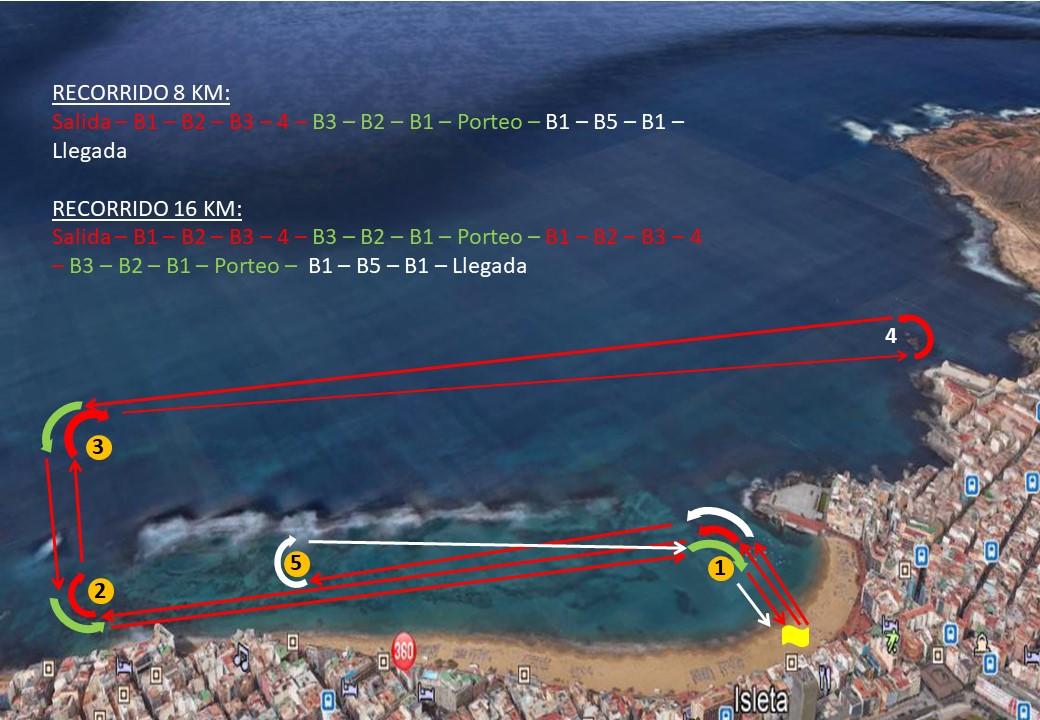 Recorrido 16 y 8 km -  Opción 2